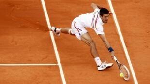 Stressed? Serbia's Novak Djokovic