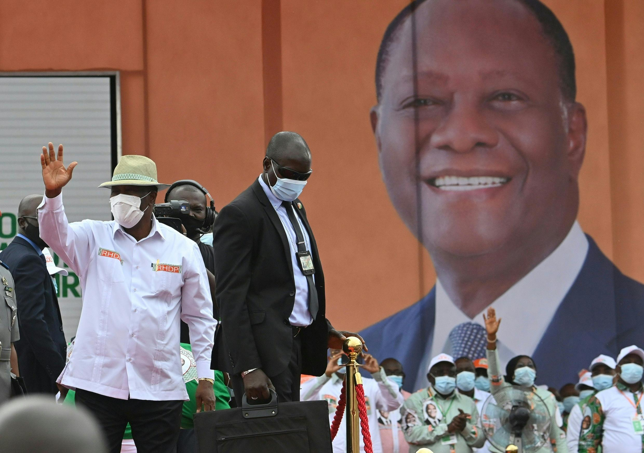 Ivory Coast President Alassane Ouattara was nominated by his party to run for president in October