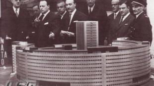 Inauguration de la Maison de la Radio par le Général de Gaulle en 1963