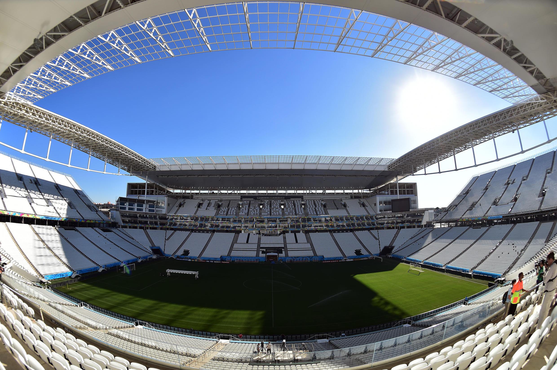 Vue du «Corinthians Arena stadium» qui a accueilli le match d'ouverture du Mondial 2014, Brésil-Croatie, le 12 juin.