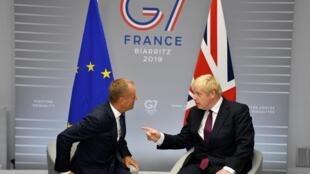 英国首相与欧盟理事会主席在G7峰会期间举行会晤 2019年8月24日