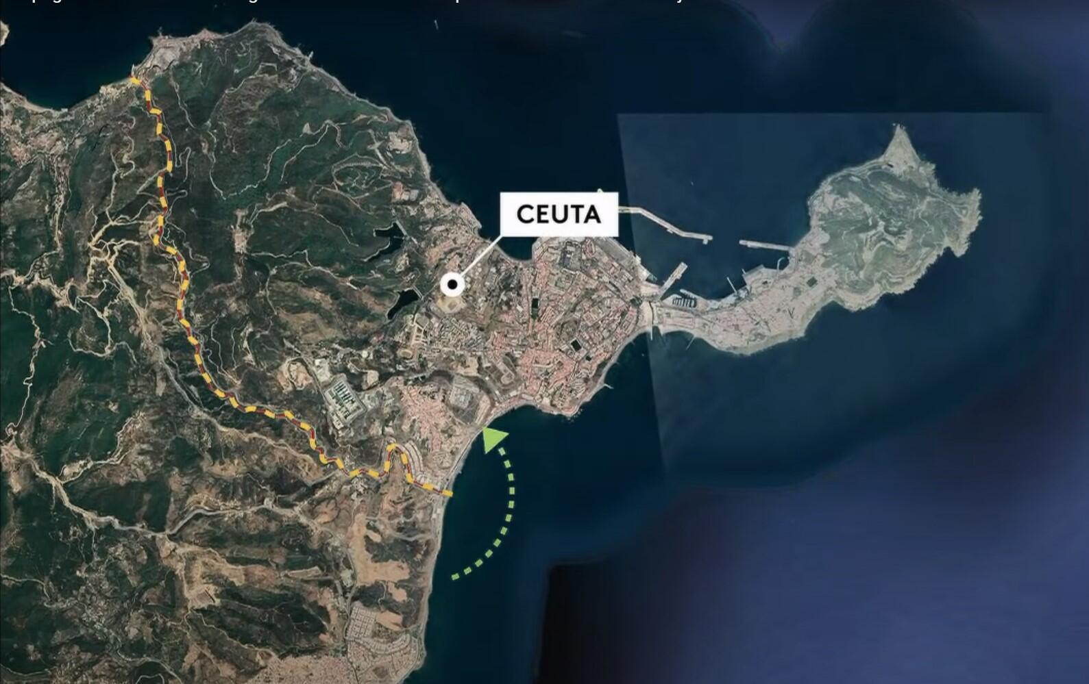 Carte Maroc-Ceuta