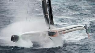 Thomas Coville in his trimaran  Sodebo