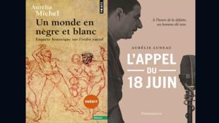 «Un monde en nègre et blanc, enquête historique sur l'ordre racial», d'Aurélia Michel et «L'appel du 18 juin», d'Aurélie Luneau.