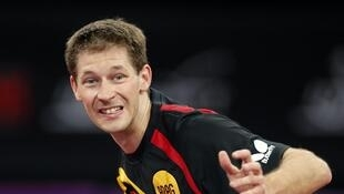 L'Allemand Bastian Steger, lors des championnats du monde de tennis de table à Paris, le 14 mai 2013.
