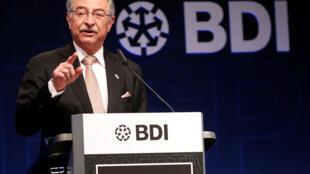 Le président de la BDI, Dieter Kempf, prend la parole lors de la journée de l'industrie allemande, organisée par l'association de l'industrie BDI à Berlin, en Allemagne, le 4 juin 2019.