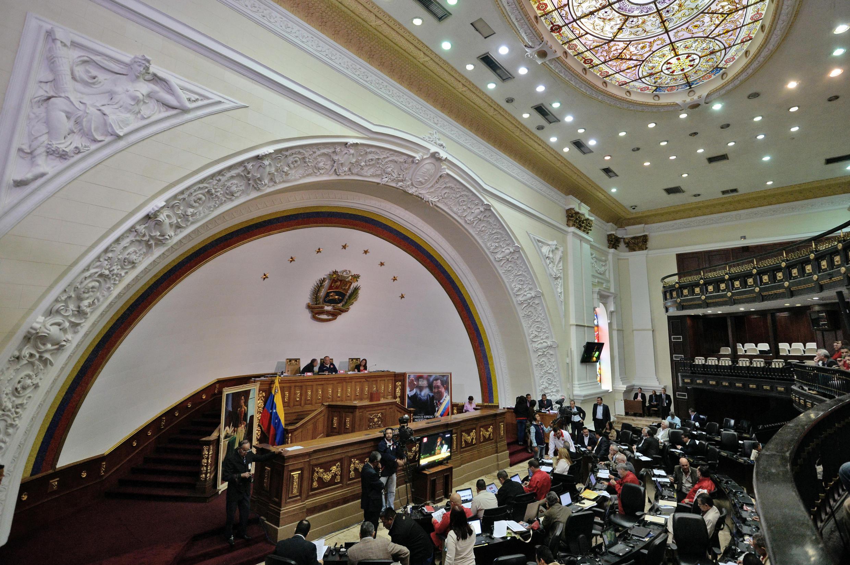 Assembleia Nacional em Caracas, durante sessão de 10 de dezembro de 2015
