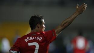 O jogador da seleção portuguesa, Cristiano Ronaldo.