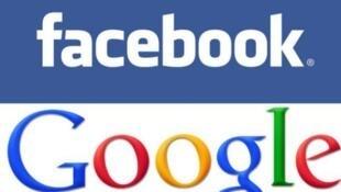 Logos de facebook et Google.