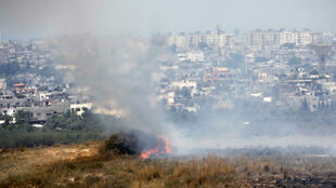 Incendies sur le territoire israélien ce vendredi sans doute provoqués par des cerfs-volants enflammés lancés depuis Gaza.