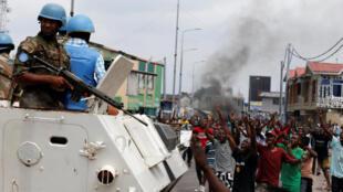 Des opposants à Joseph Kabila, dans les rues de Kinshasa, le 20 décembre 2016.