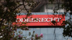 Une antenne de la société brésillienne Odebrecht à Lima au Pérou.