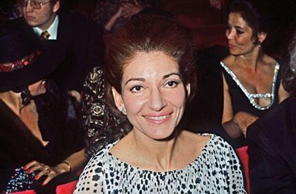 María Callas, año 1971 en el teatro Olympia de París