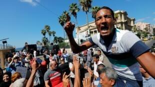 در شهر اسکندریۀ مصر، تظاهراتی در طرفداری از عبدلفتاح سیسی برگزار شد