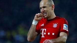 Arjen Robben na kungiyar Bayern Munich.