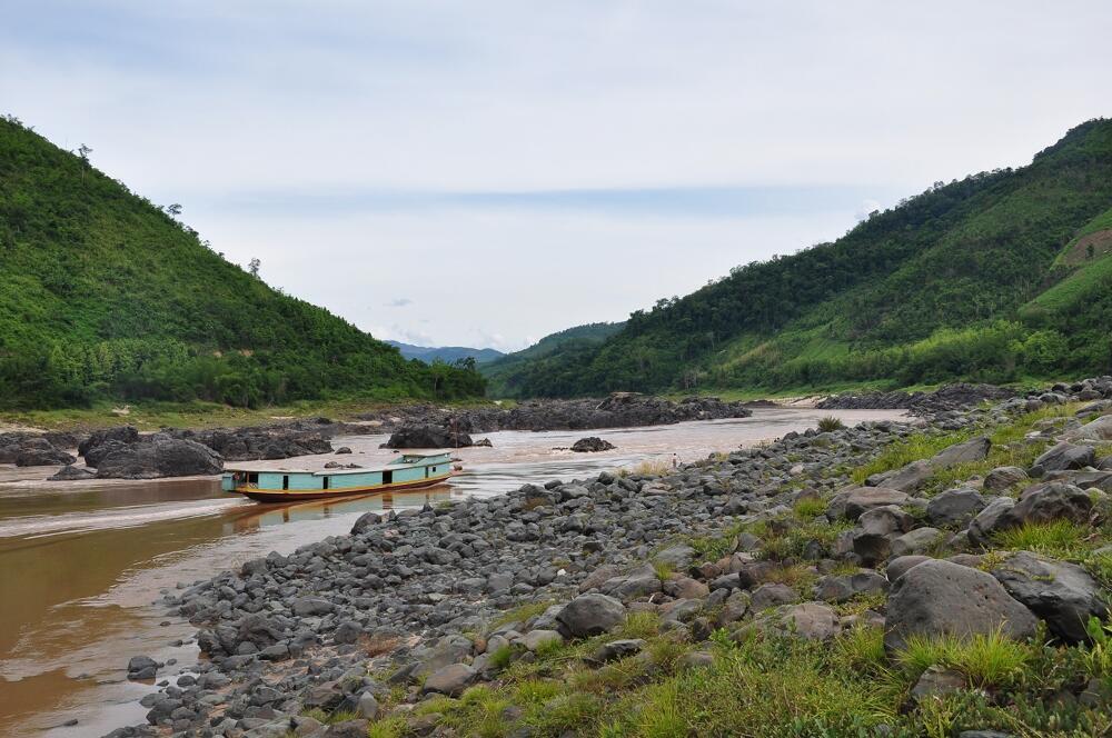 Nơi xây dựng đập thủy điện Xayaburi trên dòng chính sông Mêkông, khúc chảy qua Lào