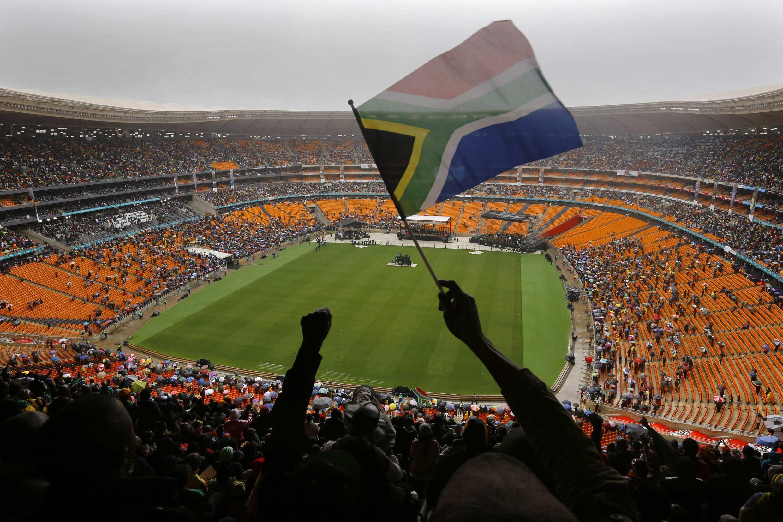 Le stade Soccer City au début de l'hommage à Nelson Mandela, le 10 décembre 2013.
