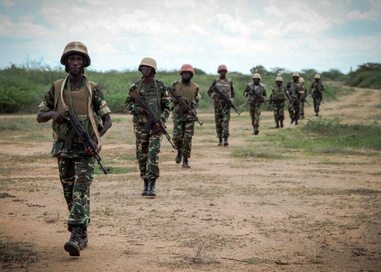 AMISOM soldiers from Burundi in Somalia