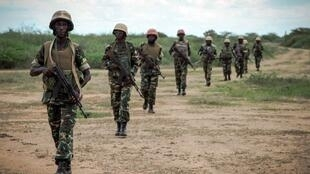 AMISOM soldiers from Burundi in Somalia