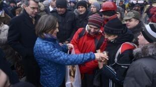 Замгоссекретаря Виктория Нуланд на Майдане