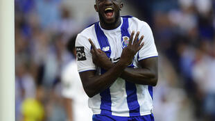 Moussa Marega fête son second but face à Estoril, le 9 août 2017.