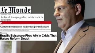 Imprensa europeia noticia primeira grande crise política do governo Bolsonaro apenas um mês e meio depois do início do mandato..
