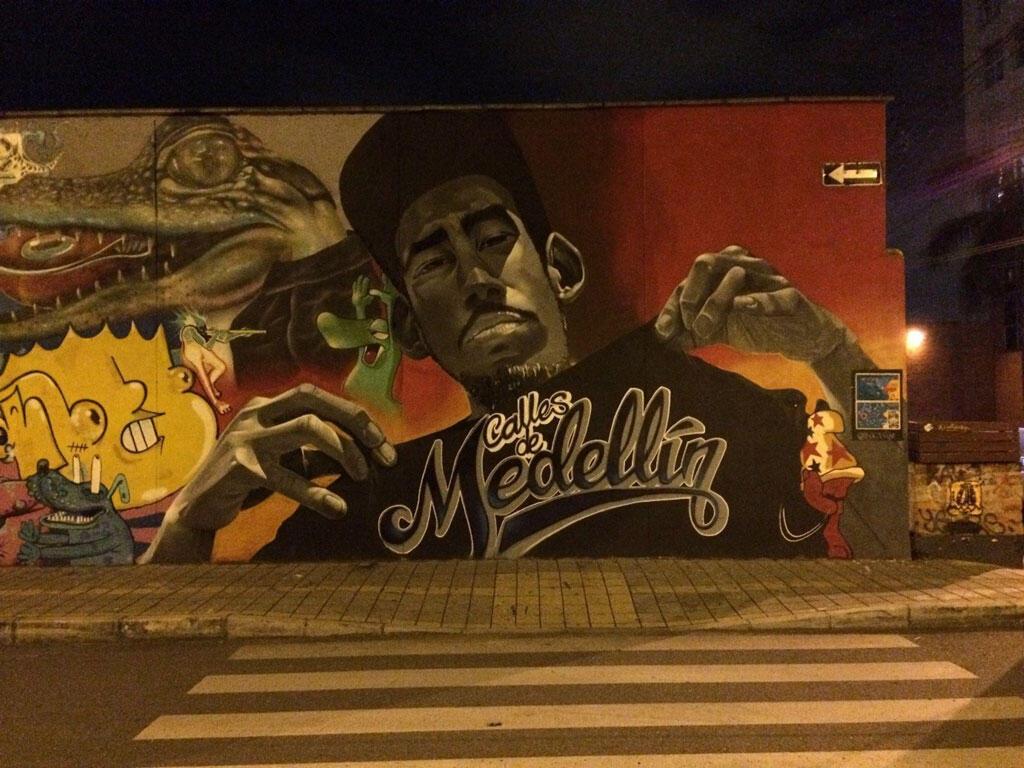 Peinture murale, Medellin.