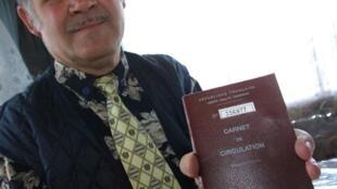 Un carnet de circulation, délivré aux gens du voyage.