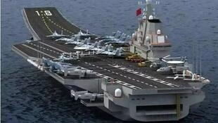 網傳中國第一艘自製航母山東號照片