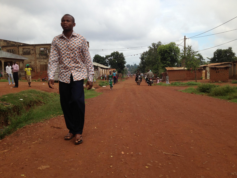 Vue du quartier de Boy-Rab à Bangui.