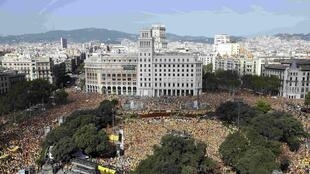 Демонстрация сторонников независимости Каталонии в Барселоне 19/10/2014 (архив)
