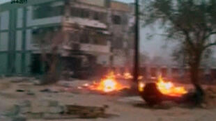 Fire in the streets of Misrata