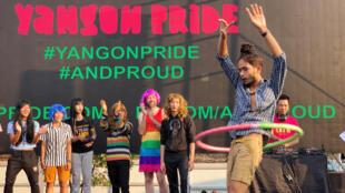 Le festival LGBT à Rangoon, en Birmanie, le 27 janvier 2019.