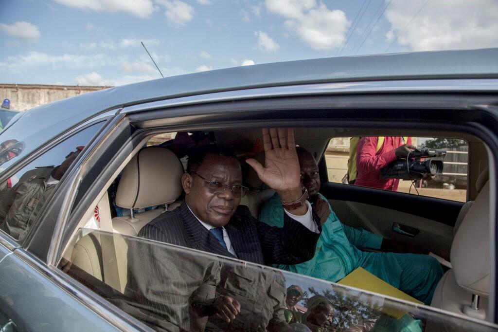 L'opposant Maurice Kamto après sa libération de prison à Yaoundé, le 5 octobre 2019.