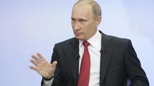 Putin speaking on national television