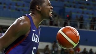 Le basketteur américain Kevin Durant aux JO 2016.