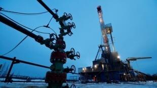 Gisement pétrolier de Yarakta dans la région d'Irkoutsk, en Russie, le 11 mars 2019.