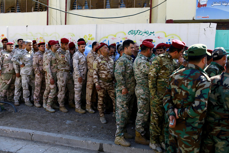 Les militaires irakiens, ici à Bagdad, ont été les premiers à voter, le 10 mai 2018.