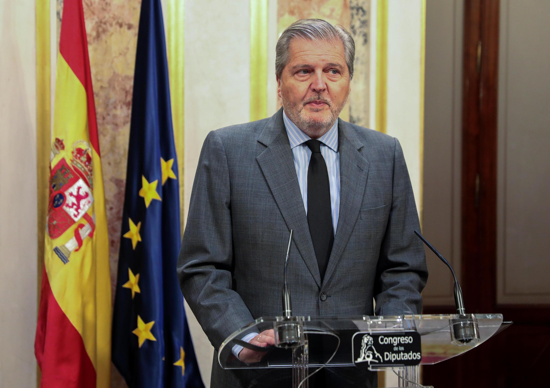 O porta-voz do governo espanhol, Íñigo Méndez de Vigo, evocando a crise da Catalunha. Madrid, 19 de Outubro de 2017.