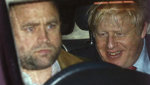 Boris Johnson leaves Conservative Party headquarters after election night