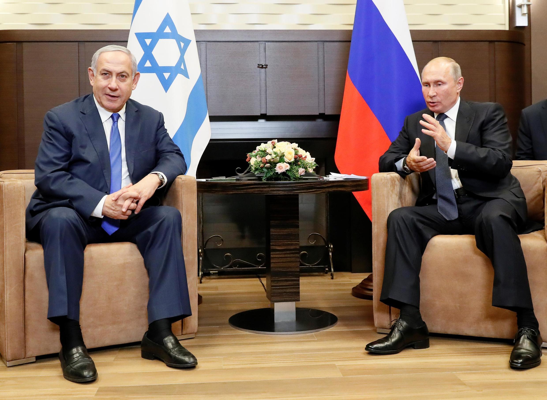 Israeli Prime Minister Benjamin Netanyahu meeting with Russian President Vladimir Putin in Sochi, 12 September 2019.
