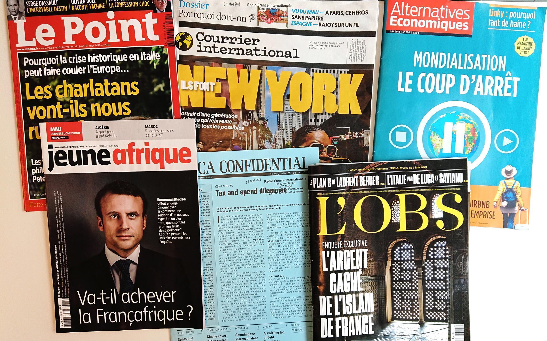 Primeiras páginas dos jornais franceses de 02 de maio de 2018