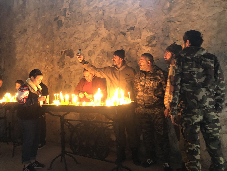 Армянские военные в монастыре Дадиванк. 13 ноября 2020 г.