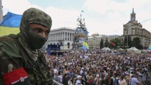 Daruruwan masu zanga-zanga a kasar Ukraine