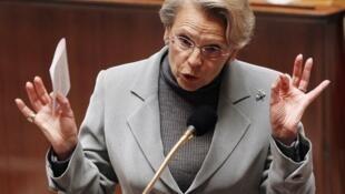 خانم میشل آلیو- ماری، وزیر امور خارجۀ فرانسه