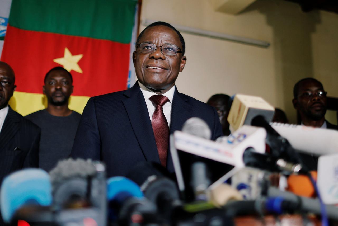 L'opposant camerounais Maurice Kamto à Yaoundé, le 8 octobre 2018.