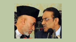 حامد کرزی وآصف علی زرداری