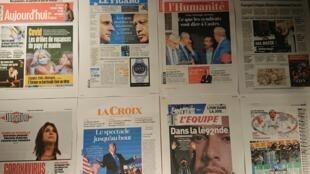 Diários  franceses 26 10 2020