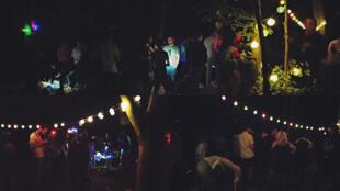 Une fête libre dans le bois de Vincennes, samedi 15 août 2020.