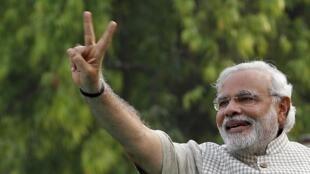 Marendra Modi, le 16 mai 2014.